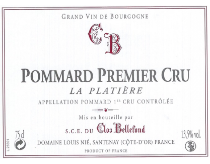 Pommard La Platière 2012