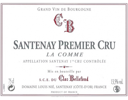 Santenay La Comme 1 er Cru 2013