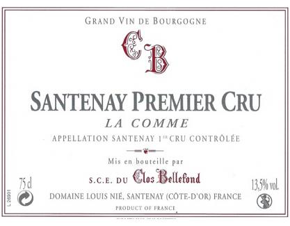 Santenay La Comme 1 er Cru 2014