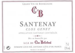 Santenay Clos Genêt