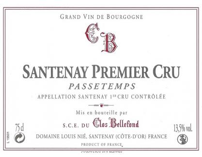 Santenay Passetemps 1er Cru 2009