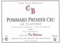 Pommard La Platière 1er Cru 2008