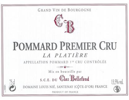 Pommard La Platière 1er Cru 2010